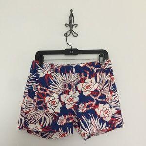 J Crew Cotton Short Retro Floral Hawaii Size 4